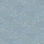 The Flight Of The Wild Geese Seamless Vector Pattern Design