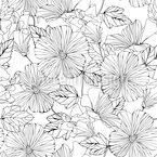 Schöner Hibiscus Nahtloses Vektormuster