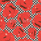 Poppy Love Seamless Vector Pattern Design
