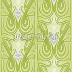Undine Green Seamless Vector Pattern Design