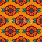 Rosas De Krumlov Design de padrão vetorial sem costura