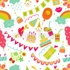 My Best Birthday Party Seamless Vector Pattern Design