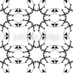 Gothic Floral Seamless Vector Pattern Design