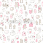 Monsters Need Love Too Seamless Vector Pattern Design