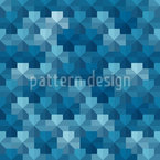 Pentagon Pixels Seamless Vector Pattern Design