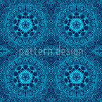 Oriental Embroidery Seamless Vector Pattern Design