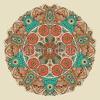 Das Mandala Des Dschingis Khan Nahtloses Vektormuster