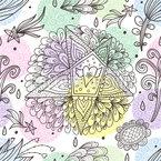 Im Traum Sende Ich Sterne Und Blumen Nahtloses Vektormuster