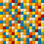 Mosaic Blocks Seamless Vector Pattern Design