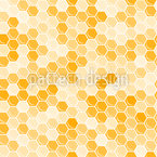 Königin Der Bienenwaben Nahtloses Vektormuster