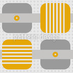 Squares Stripes Dots Seamless Vector Pattern Design
