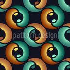 Im Auge Des Yin Und Yang Nahtloses Vektormuster