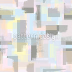 Paint Roller Geometry Seamless Vector Pattern Design