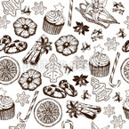 Delicious Christmas Time Seamless Vector Pattern Design