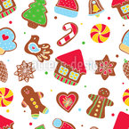 Cookie Jar Seamless Vector Pattern Design