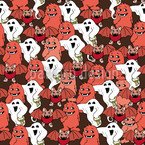 Happy Monsters Seamless Vector Pattern Design