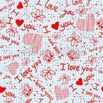 Liebesgeständnisse In Der Schule Nahtloses Vektormuster
