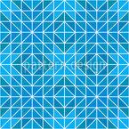Gefrorene Geometry Nahtloses Vektormuster