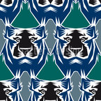 The Tiger Is The King Of The Jungle Seamless Vector Pattern Design