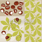 Chestnut Mix Seamless Vector Pattern Design