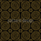 Star Fantasy In Gold Design Pattern