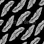 Feathers In The Dark Seamless Vector Pattern Design