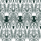 Zebra Kaleidoscope Seamless Vector Pattern Design