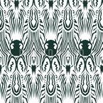 Zebra Kaleidoskop Nahtloses Vektormuster
