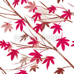 Japanese Maple Seamless Vector Pattern Design