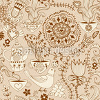 Russian Chocolate Seamless Vector Pattern Design