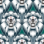 The Lion Is The King Seamless Vector Pattern Design