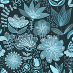 The Transparency Of The Night Flowers Repeating Pattern