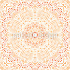 Saffron Mandala Seamless Vector Pattern Design