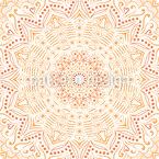 Safran Mandala Nahtloses Vektormuster