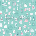 Little Monsters Need Love Too Seamless Vector Pattern Design