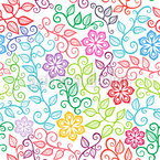 Die Blumenfreuden Des Sommers Nahtloses Vektormuster