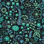 Prager Blumen Nächte Nahtloses Vektormuster