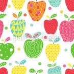 Apfel Kunst Nahtloses Vektormuster