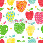 Apple Art Seamless Vector Pattern Design
