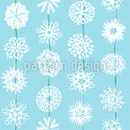 Snowflakes From Paper Seamless Vector Pattern Design