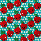 Star Apple Seamless Vector Pattern Design