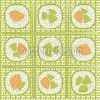 Maki Grün Muster Design