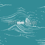 The Tidal Waves Seamless Vector Pattern Design