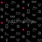Women Pleasures Seamless Vector Pattern Design