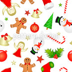 Christmas Minis Seamless Vector Pattern Design