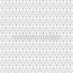 Half Circles Snake Seamless Vector Pattern Design