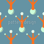 Snowman Surrealism Seamless Vector Pattern Design