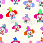 Freundliche Clowns Nahtloses Vektor Muster