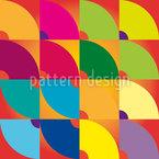 Bunte Viertelkreise Vektor Design