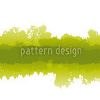 Batik In Green Seamless Vector Pattern Design